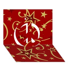 Elements Of Christmas Decorative Pattern Vector Peace Sign 3D Greeting Card (7x5)