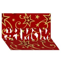 Elements Of Christmas Decorative Pattern Vector #1 Mom 3d Greeting Cards (8x4)