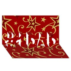 Elements Of Christmas Decorative Pattern Vector #1 Dad 3d Greeting Card (8x4)