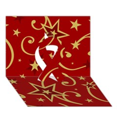 Elements Of Christmas Decorative Pattern Vector Ribbon 3d Greeting Card (7x5)