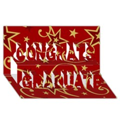 Elements Of Christmas Decorative Pattern Vector Congrats Graduate 3d Greeting Card (8x4)