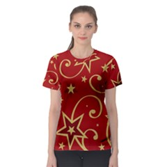 Elements Of Christmas Decorative Pattern Vector Women s Sport Mesh Tee