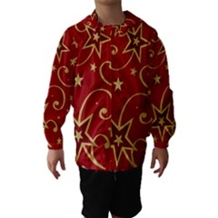 Elements Of Christmas Decorative Pattern Vector Hooded Wind Breaker (kids)