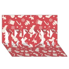 Pattern Christmas Elements Seamless Vector Mom 3d Greeting Card (8x4)