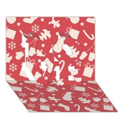 Pattern Christmas Elements Seamless Vector Love 3d Greeting Card (7x5)