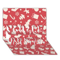 Pattern Christmas Elements Seamless Vector YOU ARE INVITED 3D Greeting Card (7x5)