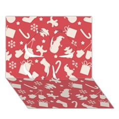 Pattern Christmas Elements Seamless Vector Clover 3d Greeting Card (7x5)