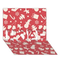 Pattern Christmas Elements Seamless Vector Hope 3d Greeting Card (7x5)