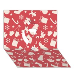 Pattern Christmas Elements Seamless Vector Ribbon 3D Greeting Card (7x5)