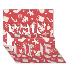 Pattern Christmas Elements Seamless Vector You Did It 3d Greeting Card (7x5)