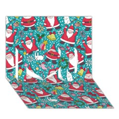 Cute Christmas Seamless Pattern Vector   I Love You 3d Greeting Card (7x5)