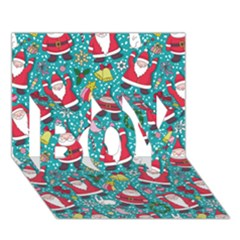 Cute Christmas Seamless Pattern Vector   BOY 3D Greeting Card (7x5)