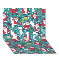 Cute Christmas Seamless Pattern Vector   Love 3d Greeting Card (7x5)