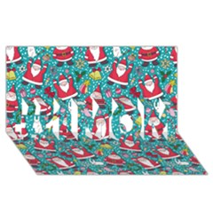 Cute Christmas Seamless Pattern Vector   #1 Mom 3d Greeting Cards (8x4)