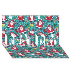 Cute Christmas Seamless Pattern Vector   Best Bro 3d Greeting Card (8x4)