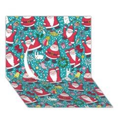 Cute Christmas Seamless Pattern Vector   Circle 3d Greeting Card (7x5)