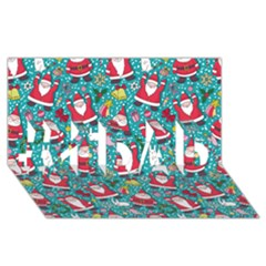 Cute Christmas Seamless Pattern Vector   #1 Dad 3d Greeting Card (8x4)