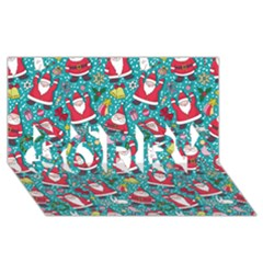 Cute Christmas Seamless Pattern Vector   Sorry 3d Greeting Card (8x4)