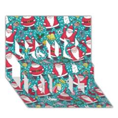 Cute Christmas Seamless Pattern Vector   You Did It 3D Greeting Card (7x5)