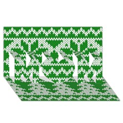 Knitted Fabric Christmas Pattern Vector MOM 3D Greeting Card (8x4)