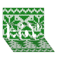 Knitted Fabric Christmas Pattern Vector Boy 3d Greeting Card (7x5)