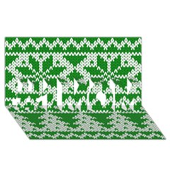 Knitted Fabric Christmas Pattern Vector #1 Mom 3d Greeting Cards (8x4)