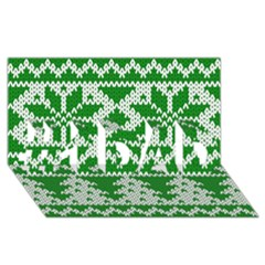 Knitted Fabric Christmas Pattern Vector #1 Dad 3d Greeting Card (8x4)