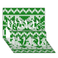 Knitted Fabric Christmas Pattern Vector Work Hard 3d Greeting Card (7x5)