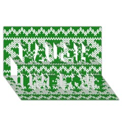 Knitted Fabric Christmas Pattern Vector Laugh Live Love 3D Greeting Card (8x4)
