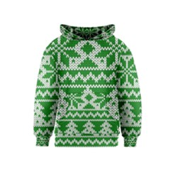 Knitted Fabric Christmas Pattern Vector Kids  Pullover Hoodie