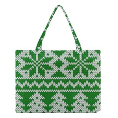 Knitted Fabric Christmas Pattern Vector Medium Tote Bag