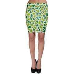 Pattern Christmas Elements Seamless Vector  Bodycon Skirt