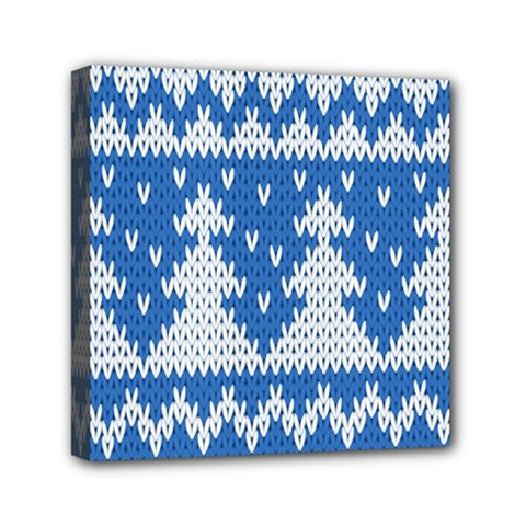 Knitted Fabric Christmas Pattern Vector Mini Canvas 6  X 6