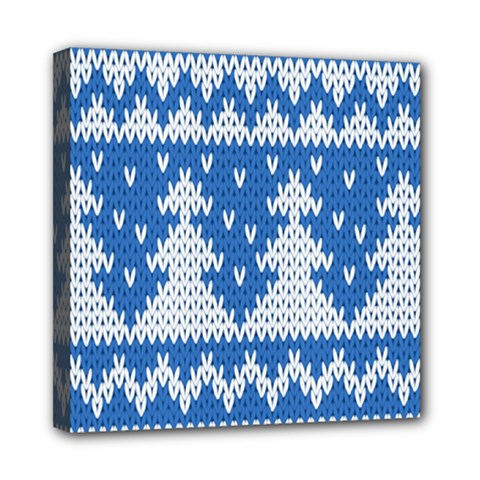 Knitted Fabric Christmas Pattern Vector Mini Canvas 8  X 8