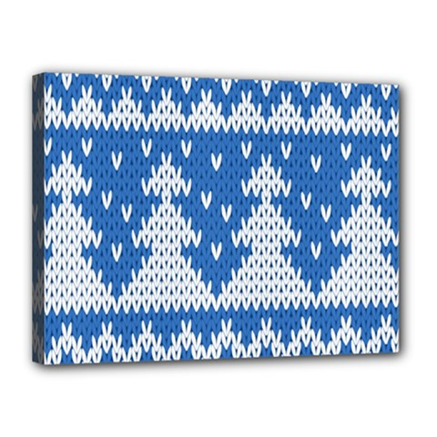 Knitted Fabric Christmas Pattern Vector Canvas 16  X 12