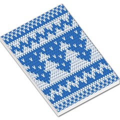 Knitted Fabric Christmas Pattern Vector Large Memo Pads
