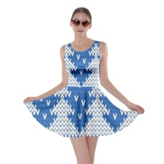 Knitted Fabric Christmas Pattern Vector Skater Dress