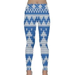 Knitted Fabric Christmas Pattern Vector Classic Yoga Leggings