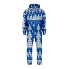 Knitted Fabric Christmas Pattern Vector Hooded Jumpsuit (kids)