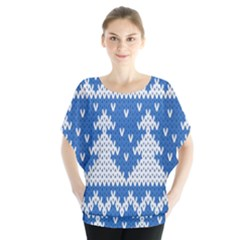 Knitted Fabric Christmas Pattern Vector Blouse