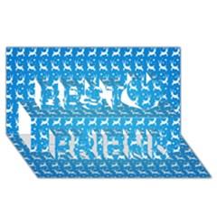 Reindeer Christmas Seamless Vector Best Friends 3D Greeting Card (8x4)