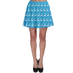 Reindeer Christmas Seamless Vector Skater Skirt