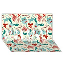 Pattern Christmas Elements Seamless Vector       #1 MOM 3D Greeting Cards (8x4)