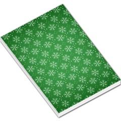 Snowflake Vector Pattern Large Memo Pads