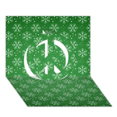 Snowflake Vector Pattern Peace Sign 3d Greeting Card (7x5)