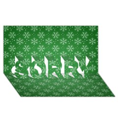 Snowflake Vector Pattern Sorry 3d Greeting Card (8x4)