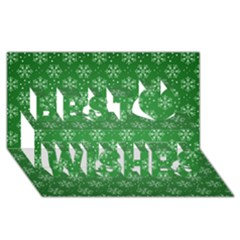 Snowflake Vector Pattern Best Wish 3d Greeting Card (8x4)