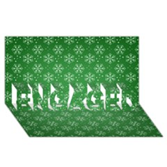 Snowflake Vector Pattern Engaged 3d Greeting Card (8x4)