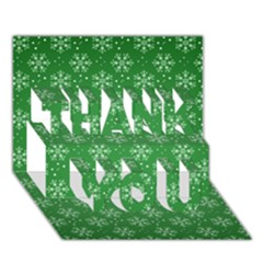 Snowflake Vector Pattern Thank You 3d Greeting Card (7x5)