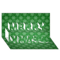 Snowflake Vector Pattern Merry Xmas 3d Greeting Card (8x4)